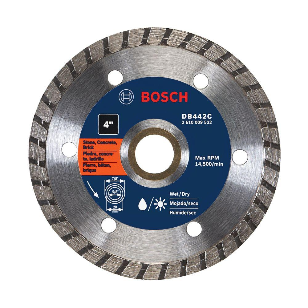 Bosch 4 in. Premium Turbo Diamond Small Angle Grinder Blade for Concrete, Brick, and Blocks
