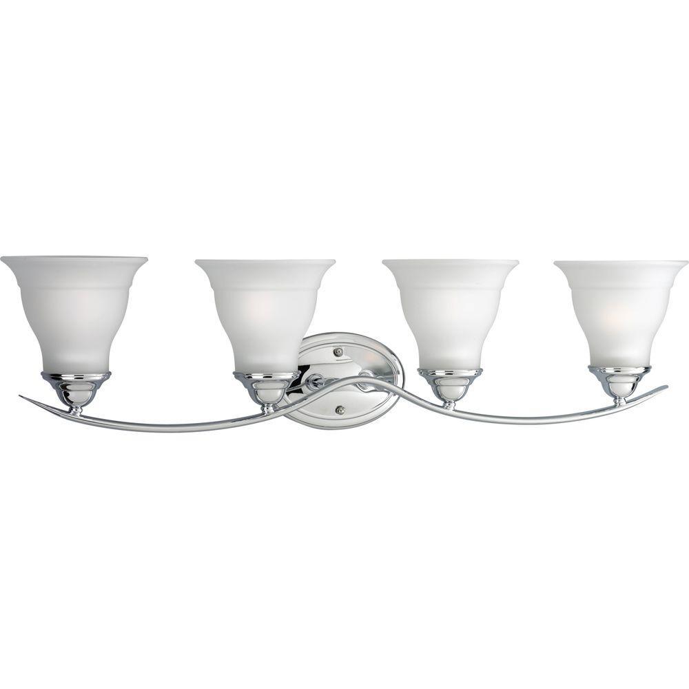 Trinity Collection 4-Light Chrome Bath Light