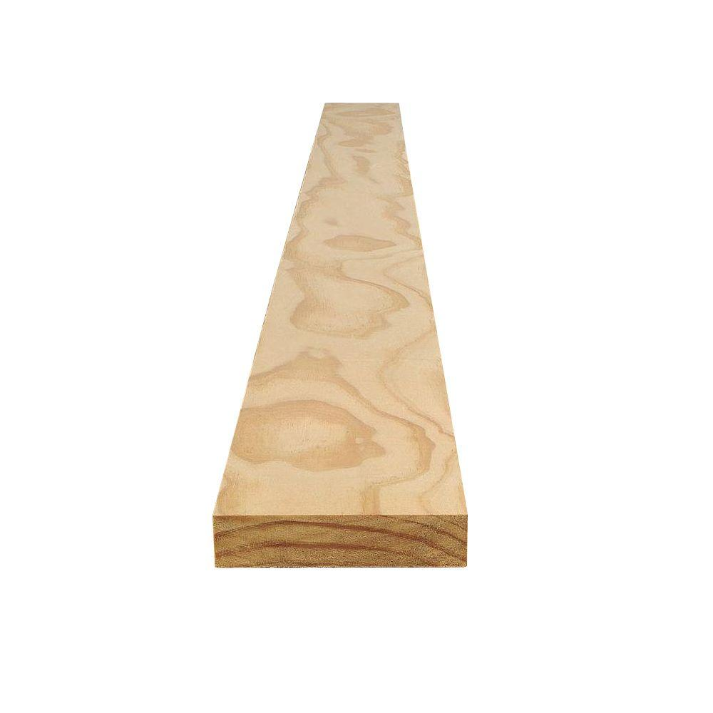 Claymark 1 in. x 8 in. x 10 ft. Select Pine Board