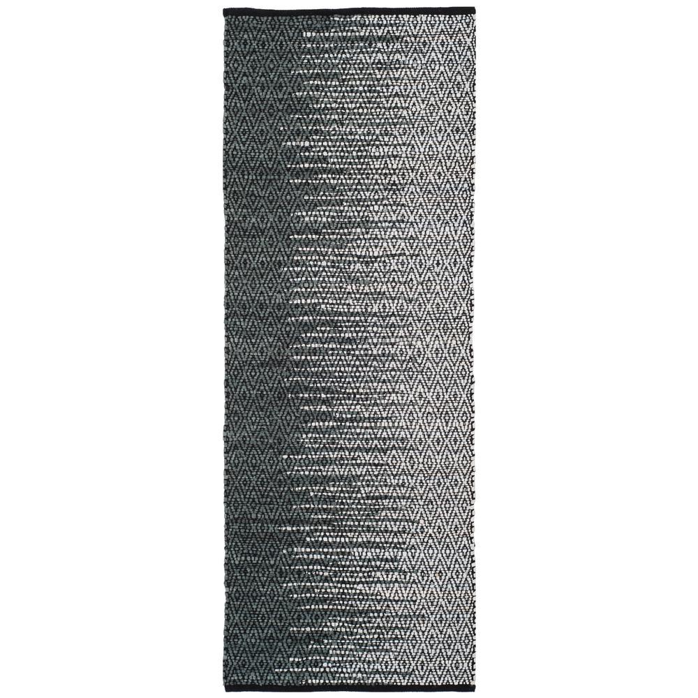 Vintage Leather Light Gray/Charcoal 2 ft. x 6 ft. Runner Rug