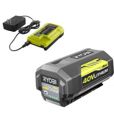 40-Volt Lithium-Ion 4 0 Ah Battery and Charger