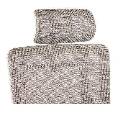 Breathable Vertical White Headrest with Steel/Gray Mesh