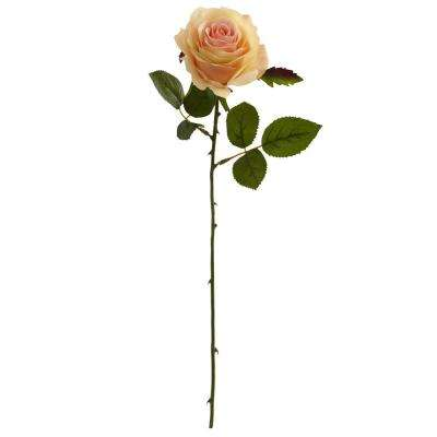 Indoor 18 in. Rose Artificial Flower (Set of 24)