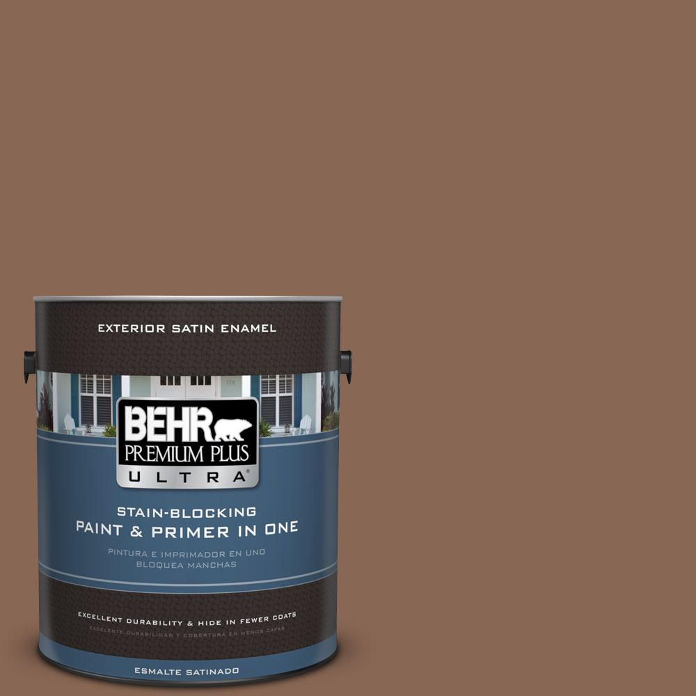 BEHR Premium Plus Ultra 1-gal. #PPU3-17 Clay Pot Satin Enamel Exterior Paint