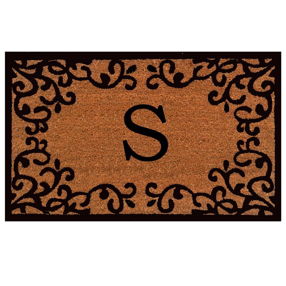 Chateaux Monogram Door Mat 24 in. x 36 in. (Letter S)
