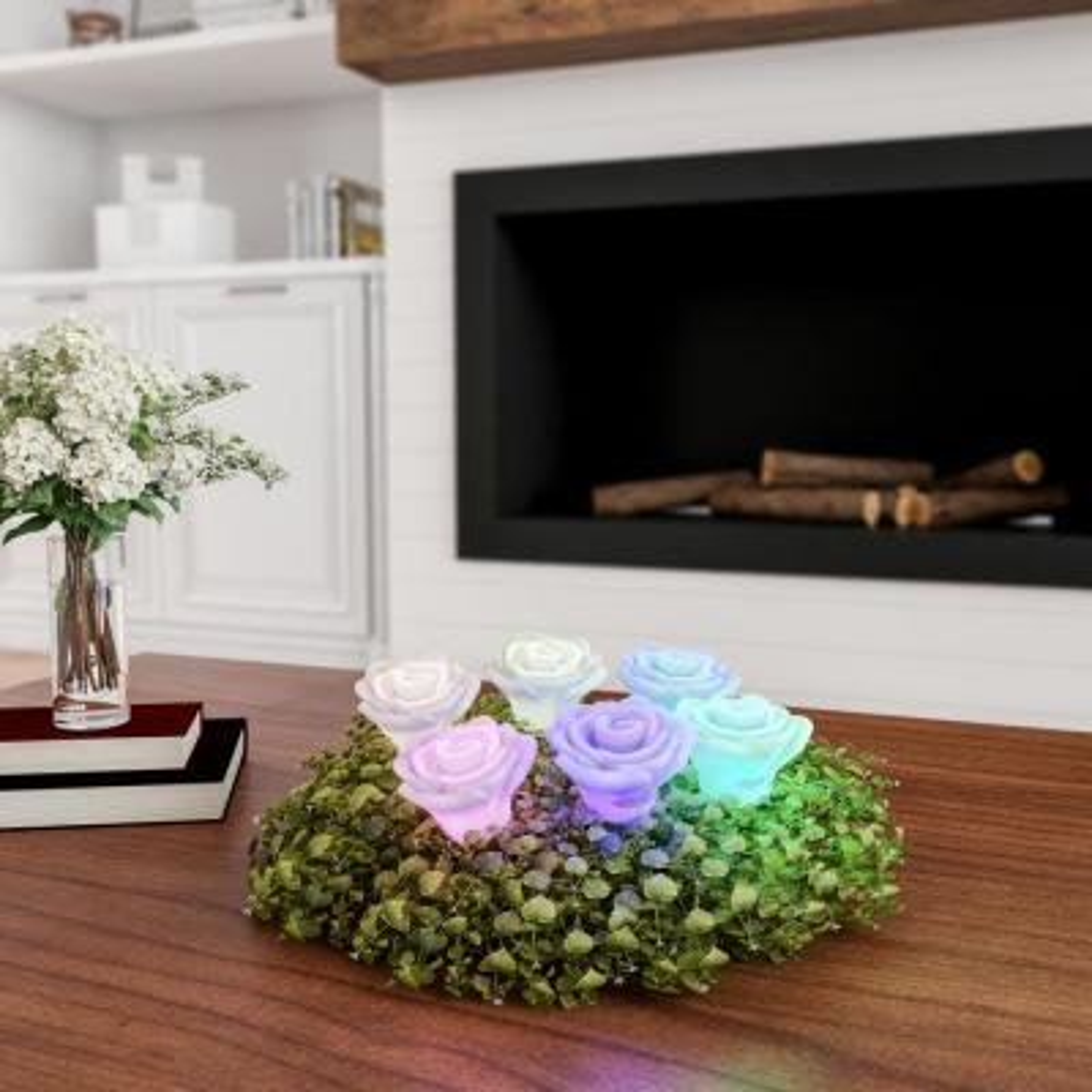6-Piece Rose-shaped Flameless LED Light Set