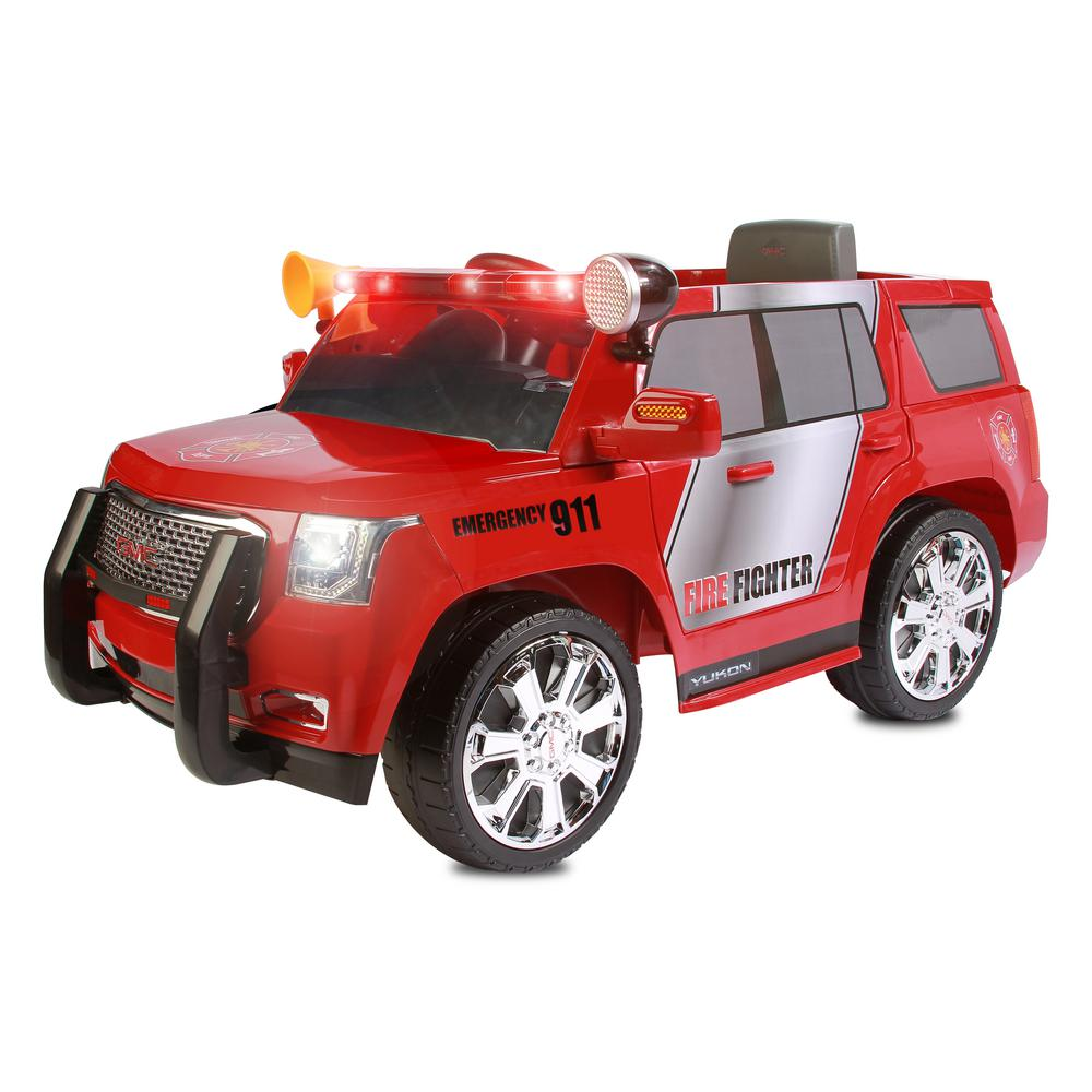 GMC Yukon Denali Fire Rescue 6-Volt Battery Ride-On Vehicle