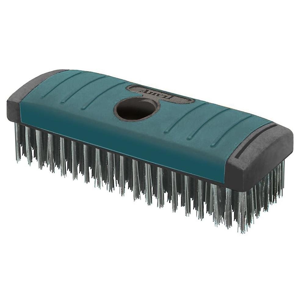 Anvil Soft Grip Carbon Block Wire Brush 6 x 19 Rows