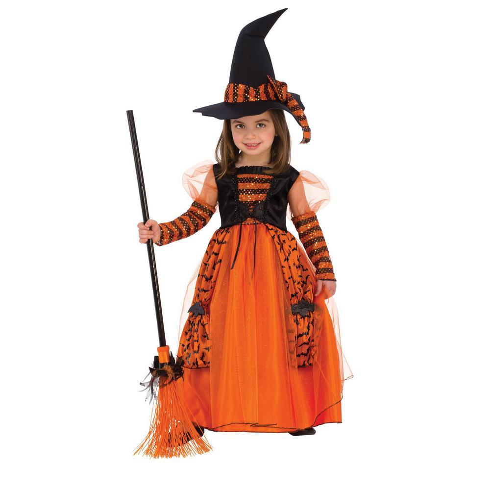 Pretty Witch Costume Kids Halloween Fancy Dress