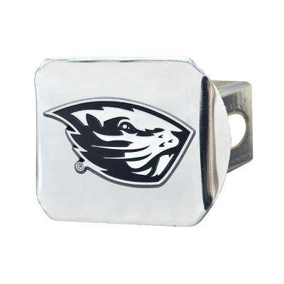 NCAA Oregon State University 2 in. Type III Chrome Hitch Cover with Chrome Emblem