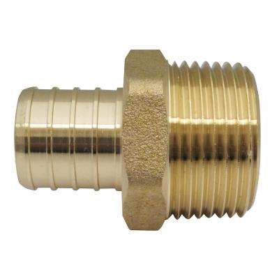 1 in. Brass PEX Barb x Male Pipe Thread Adapter