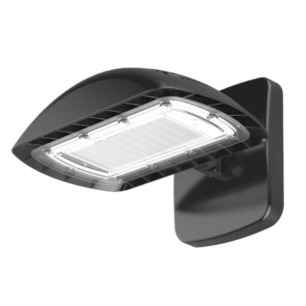 Commercial Electric 350 Watt Equivalent Integrated Led Flood Light With Wall Pack Mount 5500 Lumens Dusk To Dawn Outdoor Light 2 Pack Fsn50 Pc 4k Bz 2pk The Home Depot