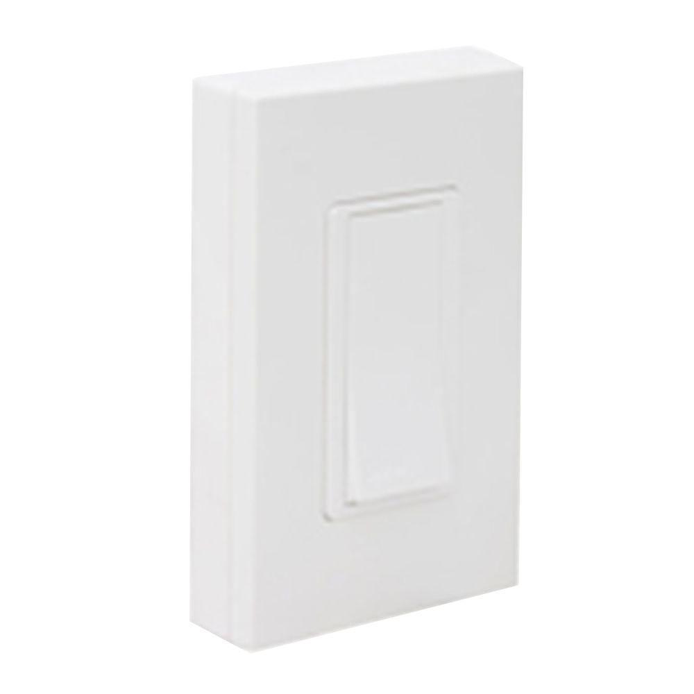 Leviton Self-Powered Wireless Push On/Off Remote Switch - White