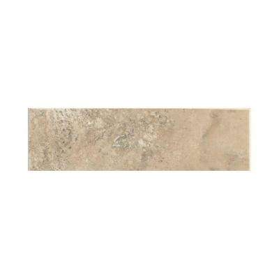 Stratford Place Willow Branch 3 in. x 10 in. Ceramic Bullnose Wall Tile