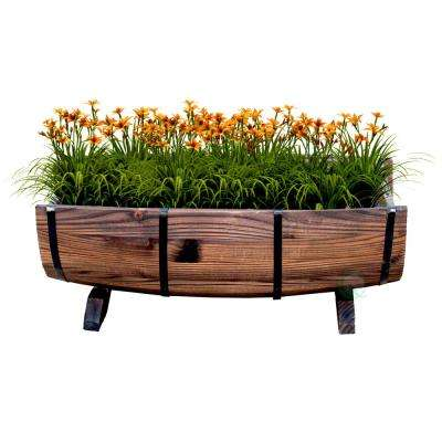 Half Barrel Garden Planter - Large