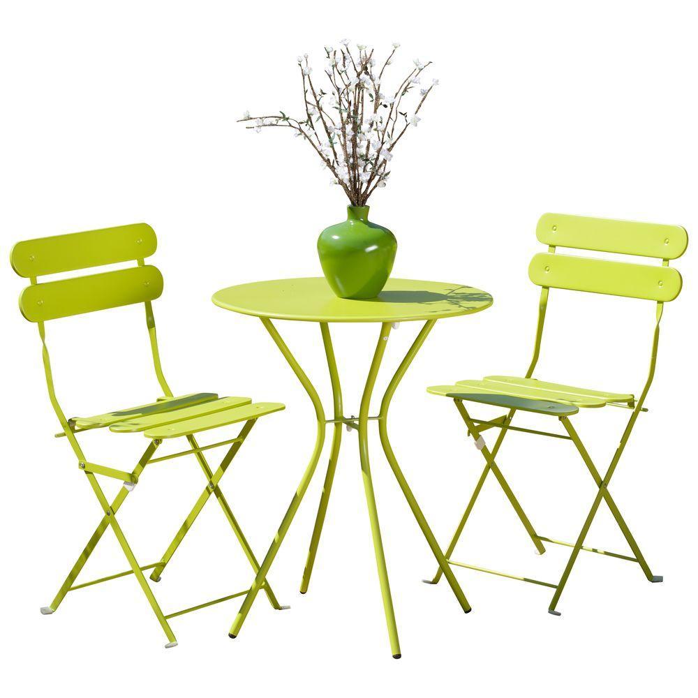 Sol Green 3-Piece Patio Bistro Set