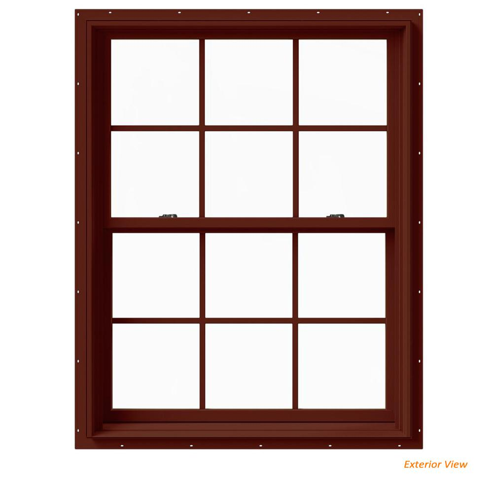 Jeld Wen 37 375 In X 48 W 2500 Series Red Painted