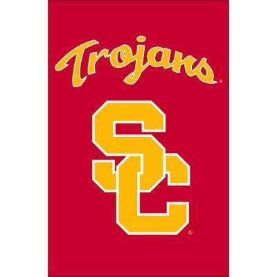 NCAA 12-1/2 in. x 18 in. USC 2-Sided Garden Flag