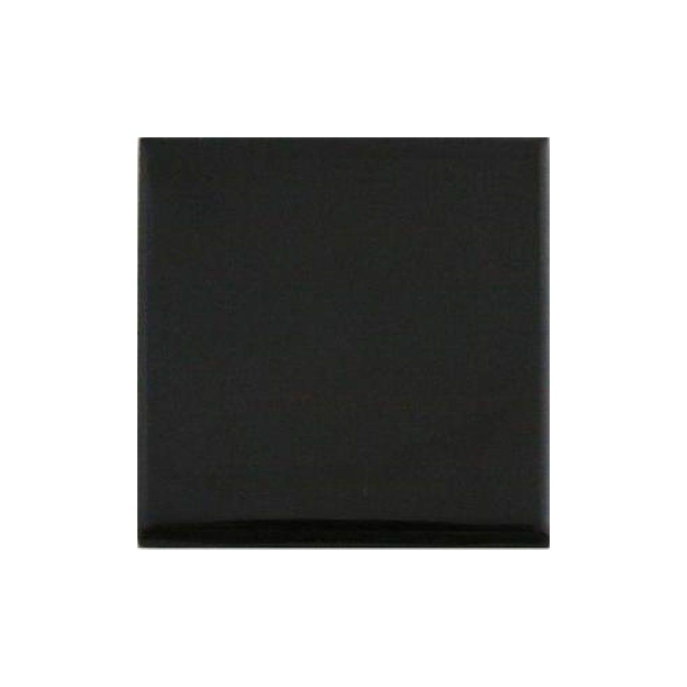 Daltile Semi-Gloss 4-1/4 in. x 4-1/4 in. Black Ceramic Bullnose Wall Tile (0.125 sq. ft. / piece)