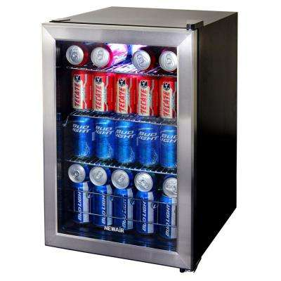 17 in. 84 (12 oz.) Can Stainless Steel Freestanding Beverage Cooler""