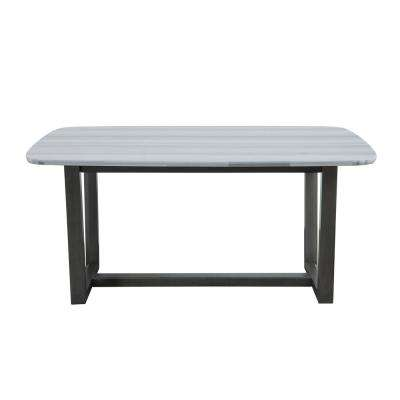 Madan Marble and Gray Oak Dining Table
