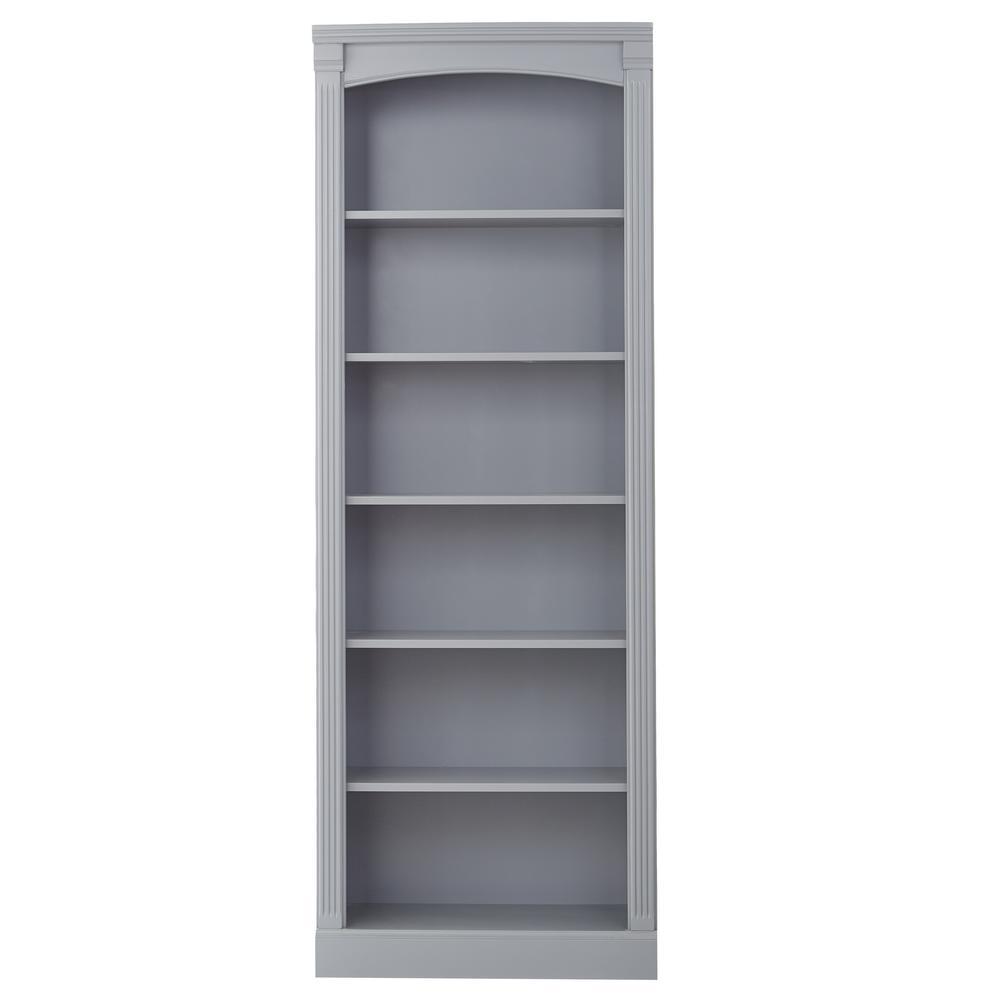 Edinburgh grey 6 shelf bookcase