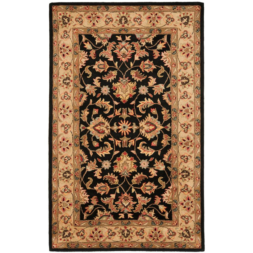 Large Area Rugs Gold: Safavieh Heritage Black/Gold 5 Ft. X 8 Ft. Area Rug-HG957A