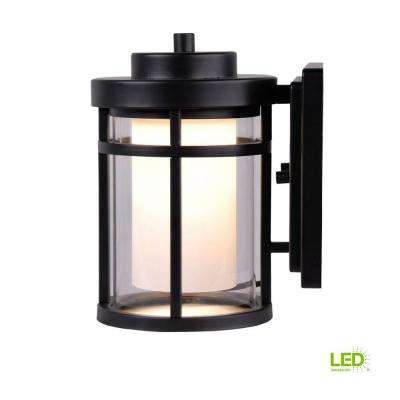 black outdoor led small wall light - Outdoor Sconce Lighting
