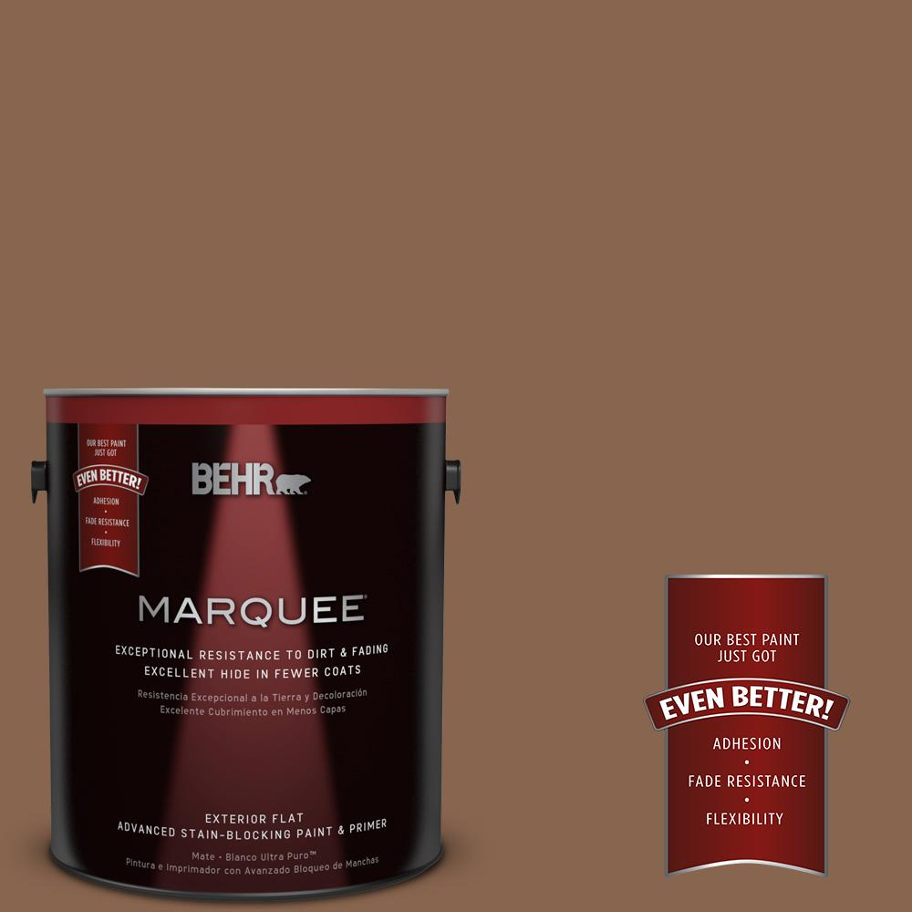 BEHR MARQUEE 1-gal. #S220-7 Molasses Flat Exterior Paint