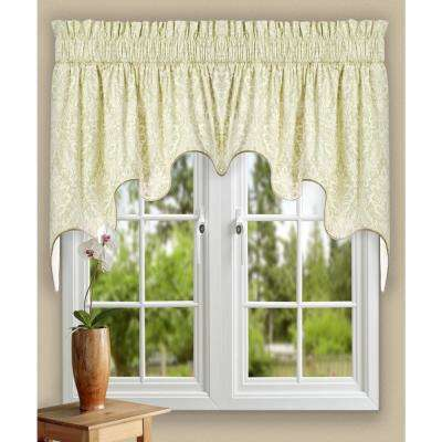 Donnington 30 in. L Cotton Lined Duchess Valance in Linen