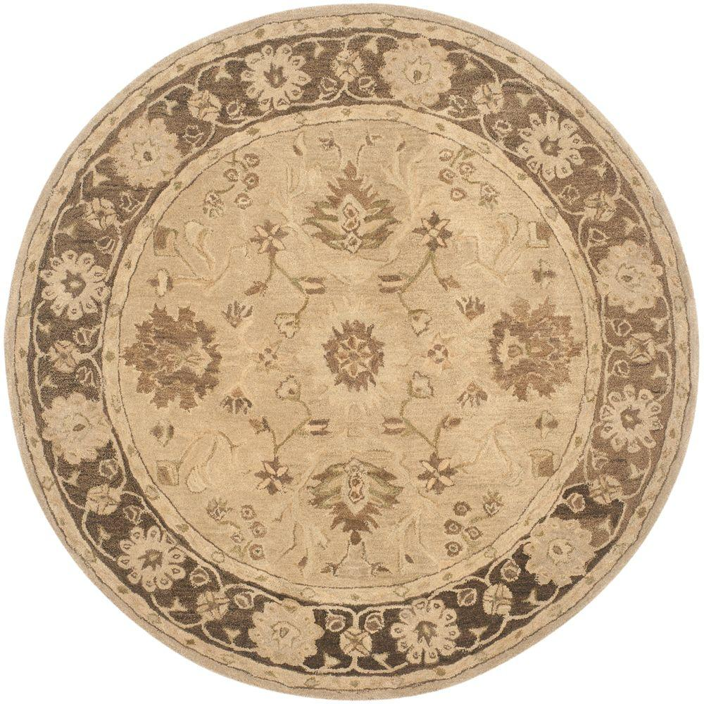 Safavieh Anatolia Light Grey Dark Brown 6 Ft X 6 Ft