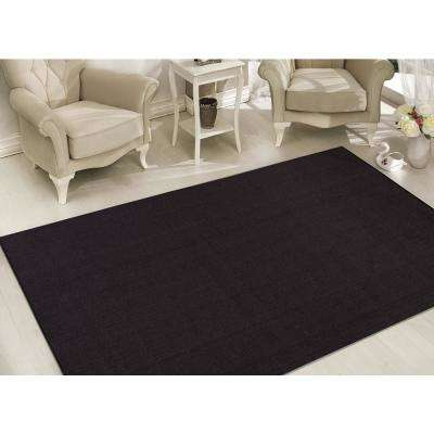 Clifton Collection Solid Design Black 5 ft. x 7 ft. Area Rug