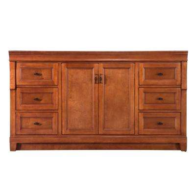 Naples 60 in. W Bath Vanity Cabinet Only in Warm Cinnamon for Single Bowl