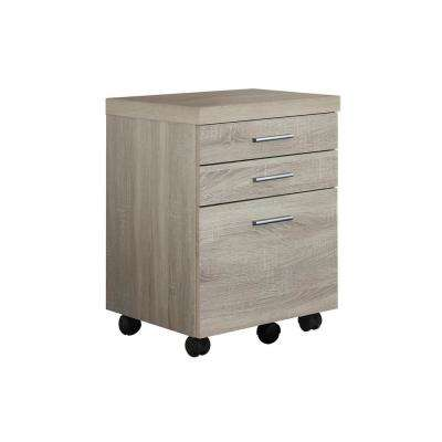 Jasmine 1-Piece Natural and Black Filing Cabinet