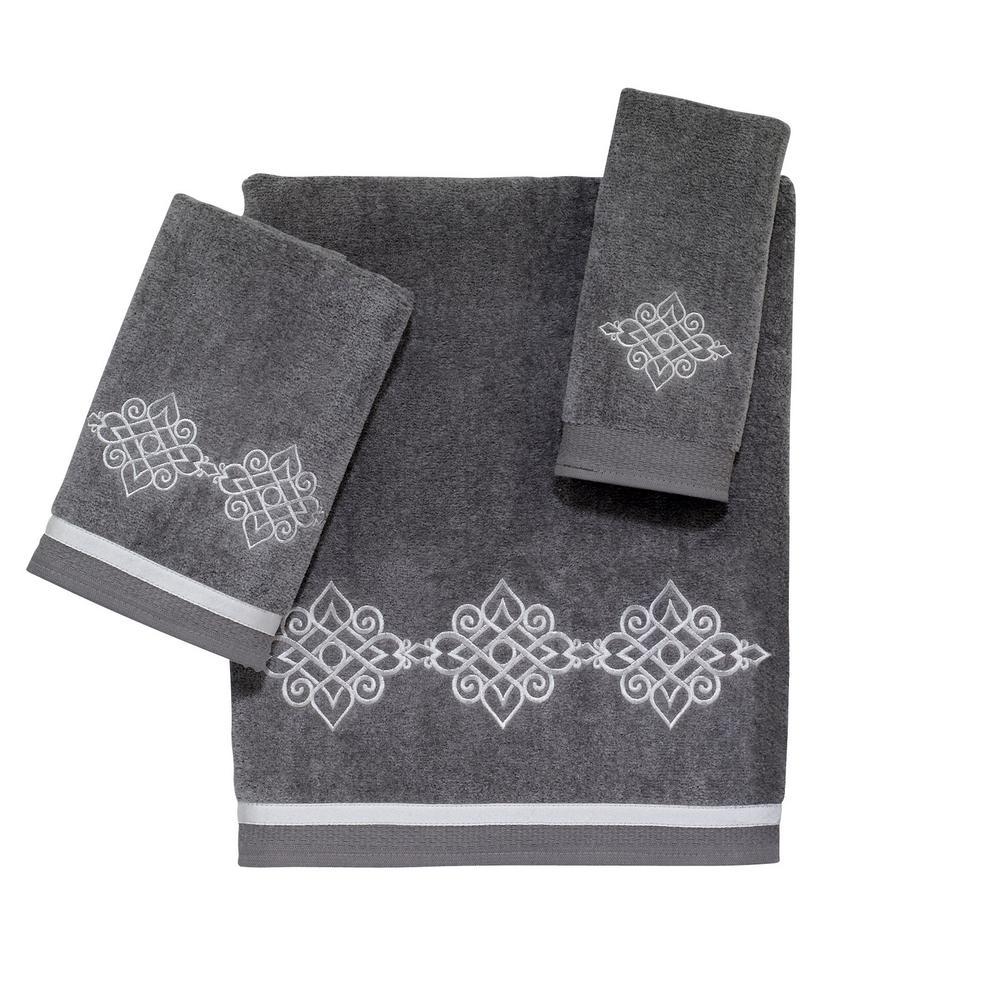 Avanti Linens 3-Piece Nickel Riverview Cotton Towel Set