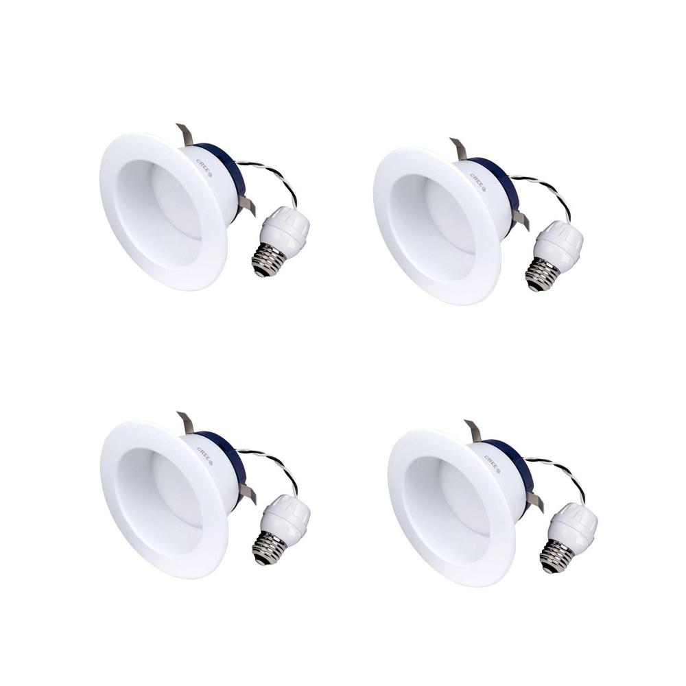 Cree Tw Series 65w Equivalent Soft White 2700k 4 In Dimmable Led Retrofit Recessed Downlight Pack