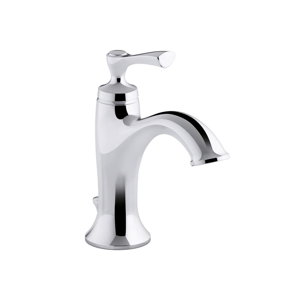 Kohler Elliston Single Hole Handle Bathroom Faucet In Polished Chrome