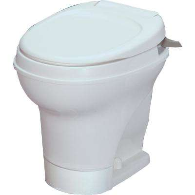 Aqua-Magic V RV High Permanent RV Toilet Hand Flush - White