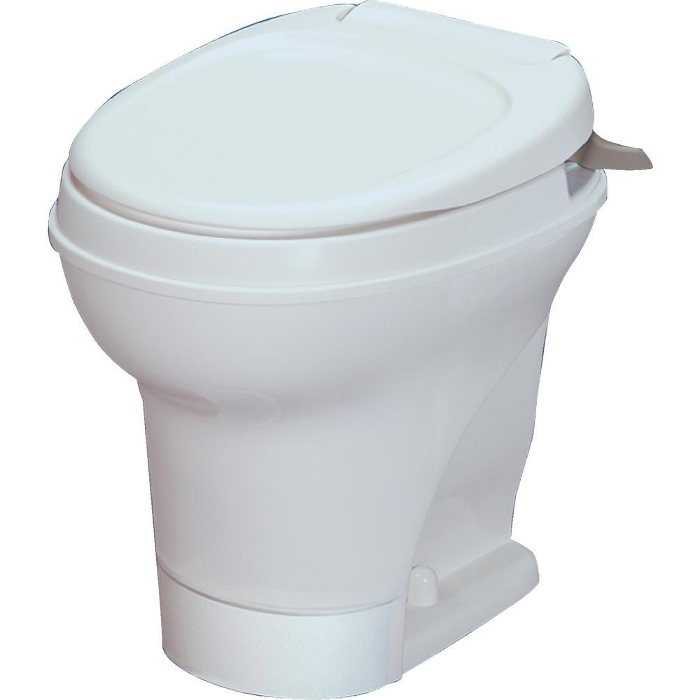 Aqua-Magic V RV High Permanent Toilet Hand Flush - White