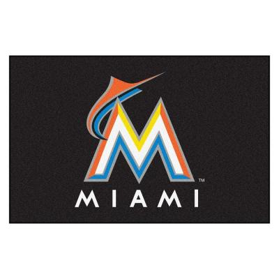 MLB Miami Marlins 1 ft. 7 in. x 2 ft. 6in. Starter Mat Area Rug