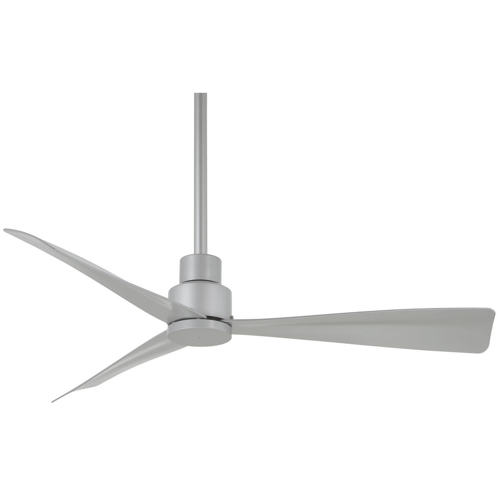 Minka Aire Simple 44 In Indoor Outdoor Silver Ceiling Fan