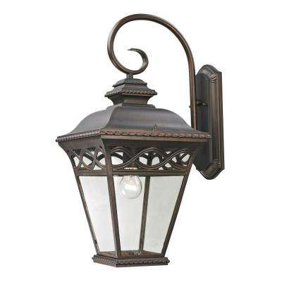 Mendham 1-Light Outdoor Hazelnut Bronze Sconce