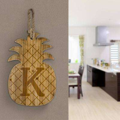 Wood Pineapple Hanging Initial Wall Letter K