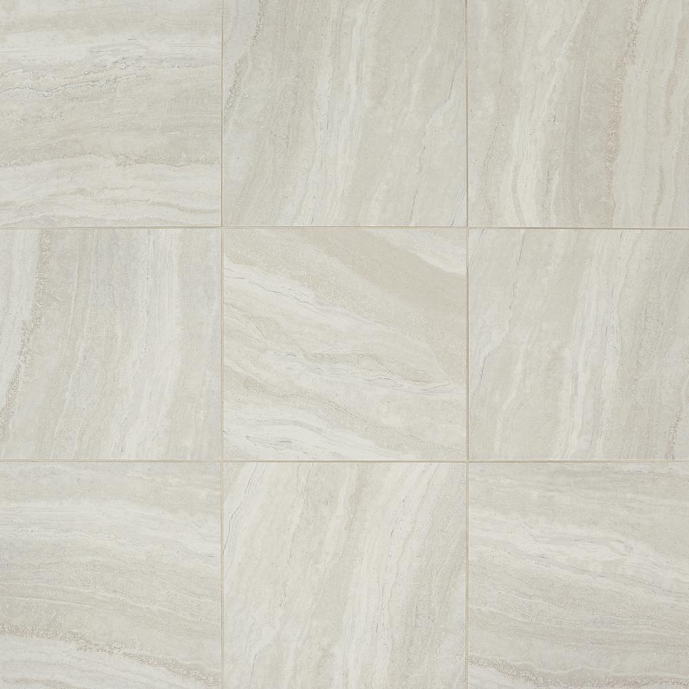 Daltile Hamilton Linear Gray 18 In X Ceramic Floor And Wall Tile