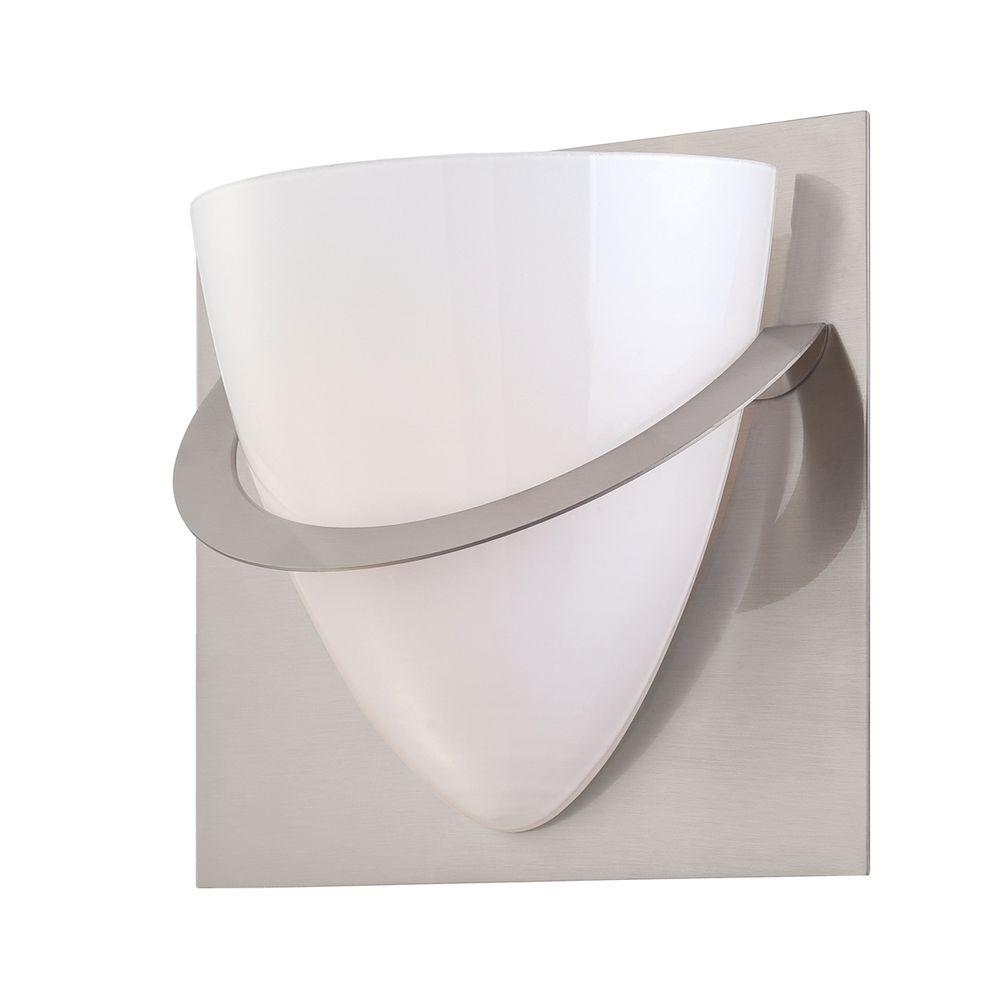 Eurofase Forma Collection 1-Light Satin Nickel Wall Sconce