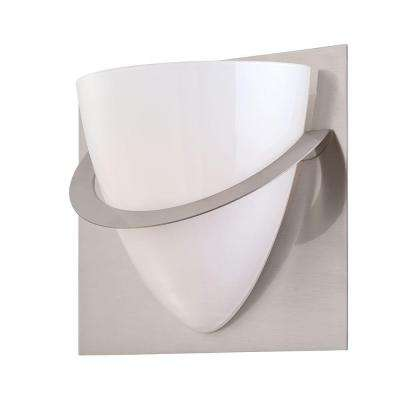 Forma Collection 1-Light Satin Nickel Wall Sconce