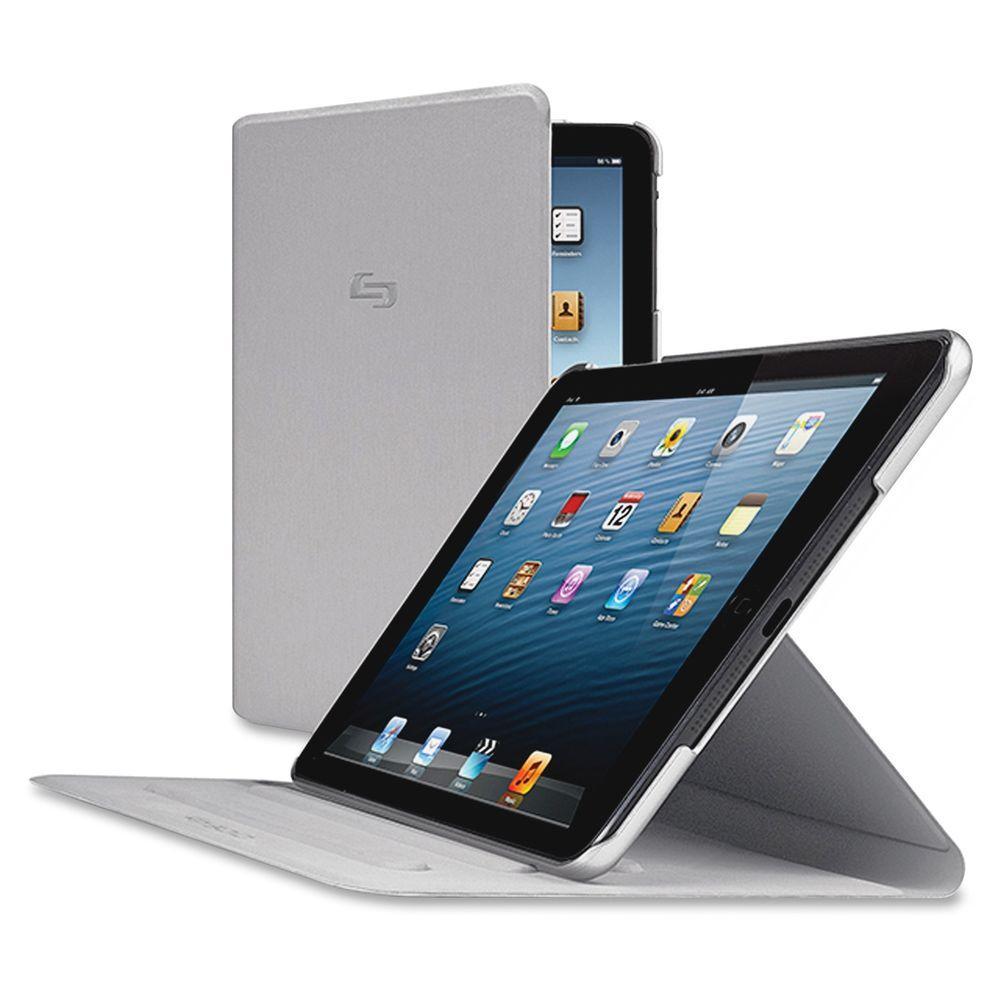Solo Vinyl iPad Mini Millennia Carrying Case, Titanium, Gray