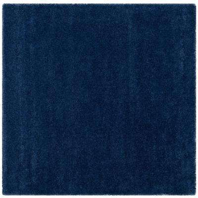 Milan Shag Navy 10 ft. x 10 ft. Square Area Rug
