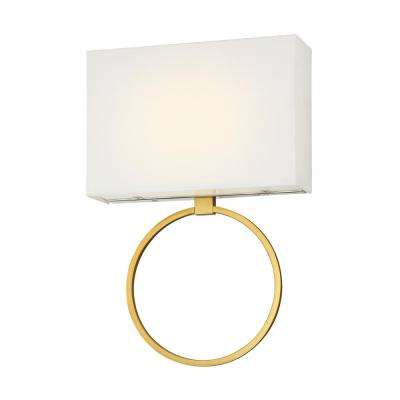 Chassell Painted Honey Gold with Polished Nickel LED Sconce