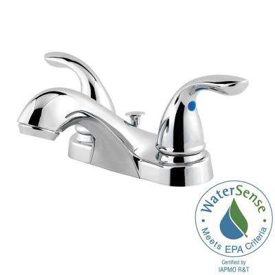 Classic 4 in. Centerset 2-Handle Bathroom Faucet in Polished Chrome